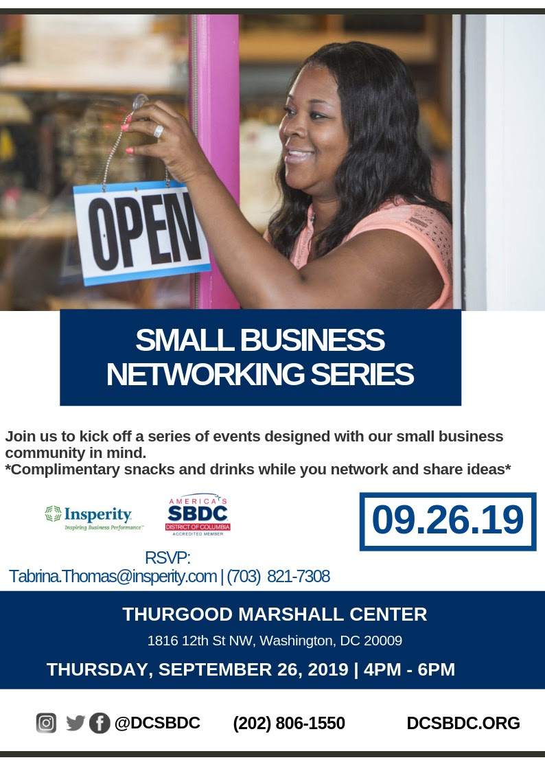 Small Business Networking Series Event
