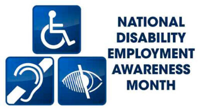 NAtional Disability Emplyment Awareness Month Logo